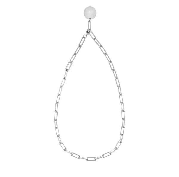 Heavy Chain Adjustable Choker in Silver Color