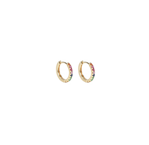 Dillon Rainbow Crystal Hoop