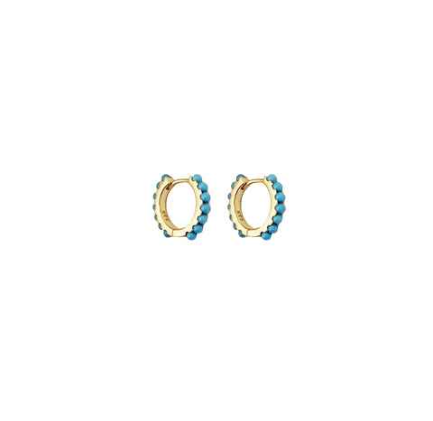Dillon Turquoise Hoop