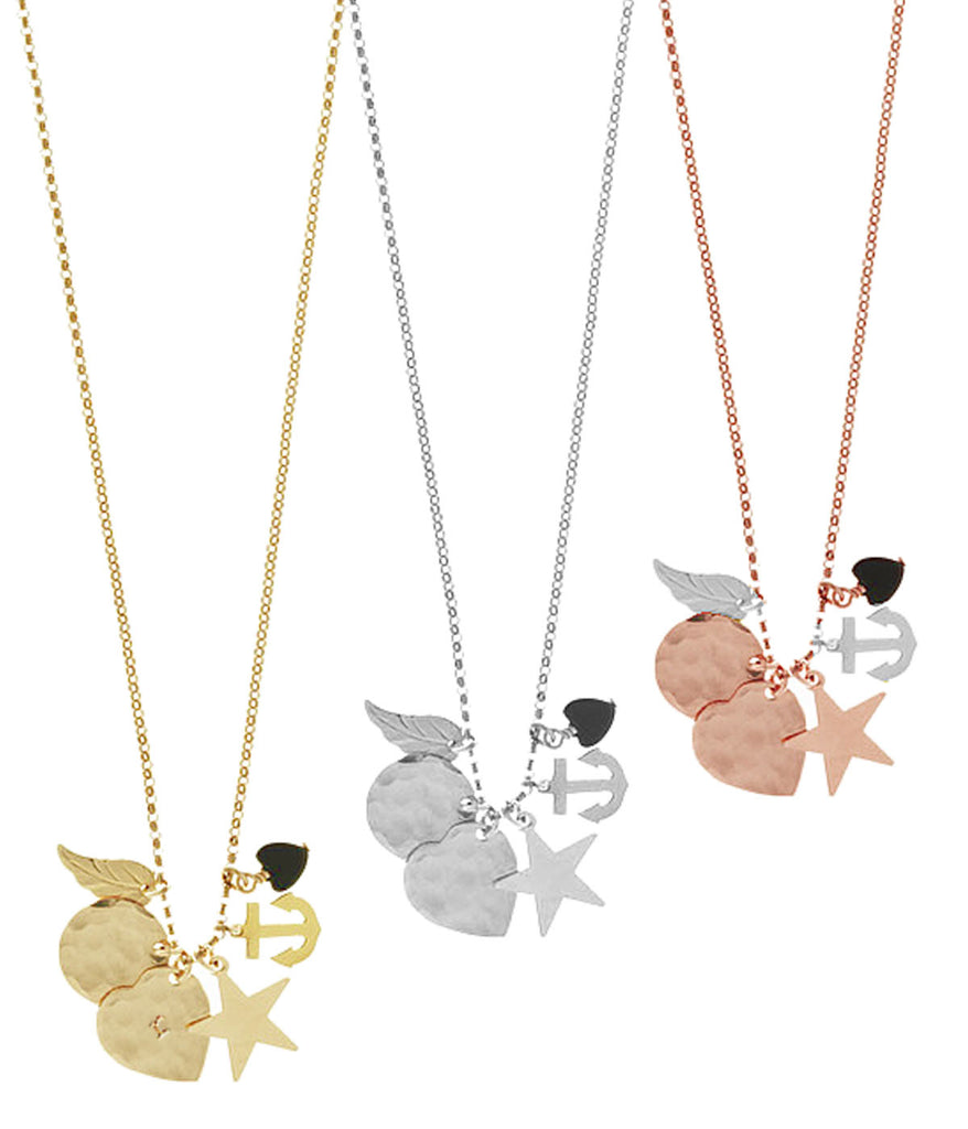 The Elly Charm Necklace - Gold, Silver, Rose Gold >>>