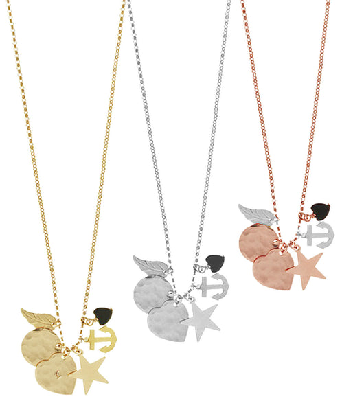 The Elly Charm Necklace in Gold, Silver, Rose Gold