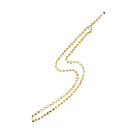Emery Disc Chain Necklace - Gold, Silver >>