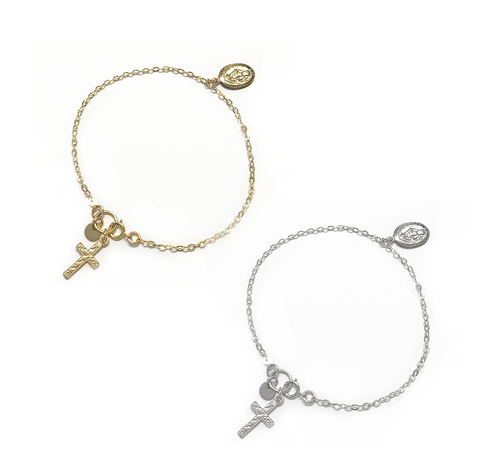 The Georgia - Vintage Charm Bracelet - Gold, Silver >>