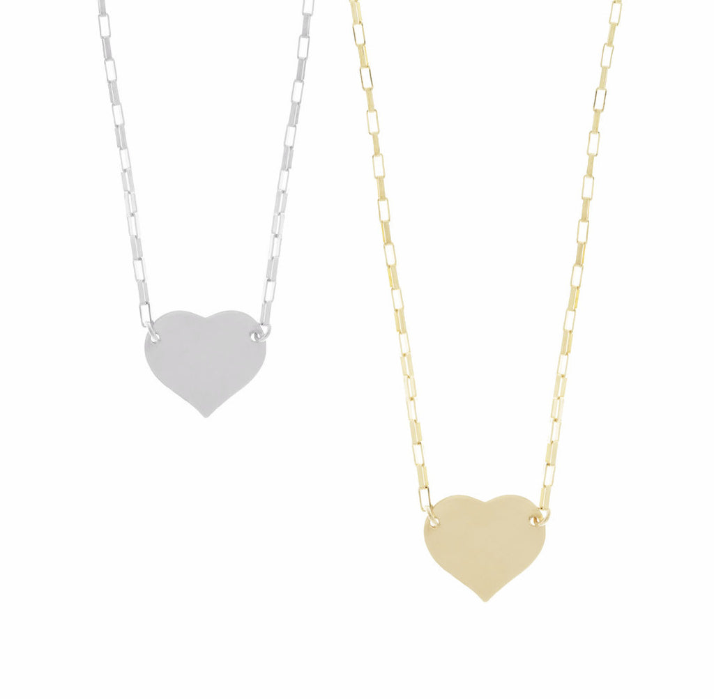 Heart Necklace in Gold and Silver