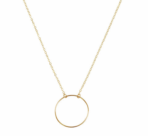 The Izzy - Large O Necklace- Gold, Silver >>