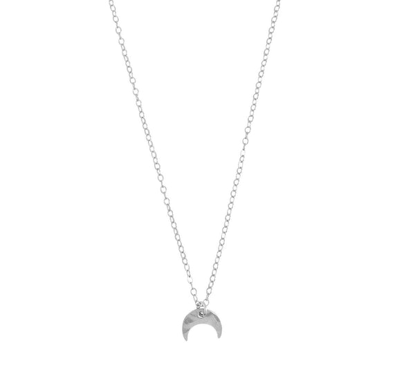 The Jade - Mini Horn Necklace on Cable Chain Silver