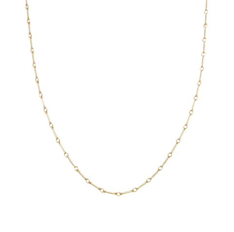 The Jemma Adjustable Fine Bar Chain Choker Gold