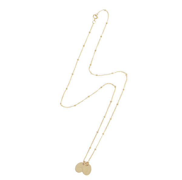 Kat Disc Necklace - Gold, Silver, Rose Gold >>