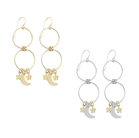 Kew | Pearl Chain Earring in Gold and Silver