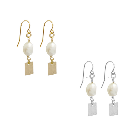 Leah Charm Earring - Gold, Silver >>