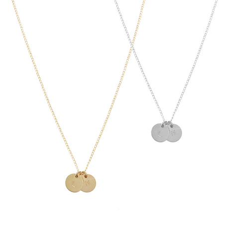 Lena Disc Necklace - Gold, Silver, Rose Gold >>