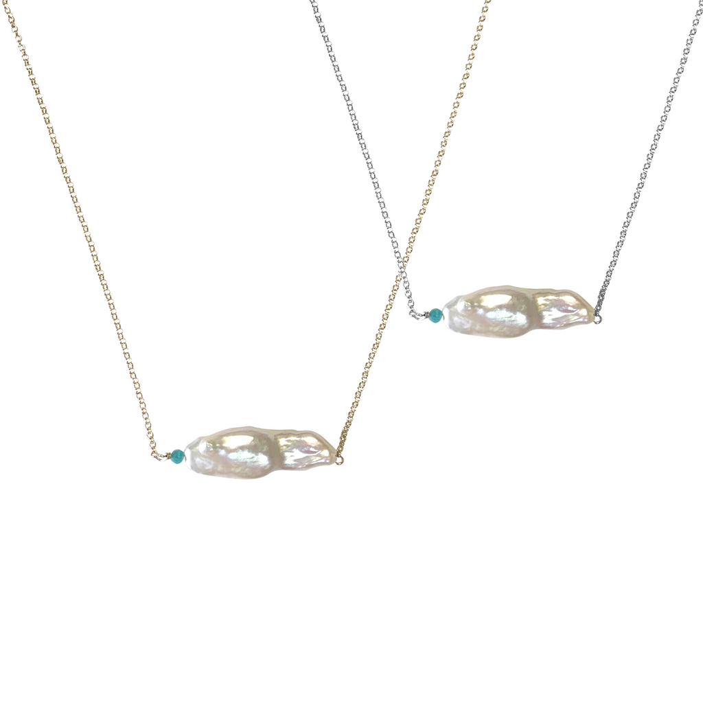 Pearl Amazonite Necklace