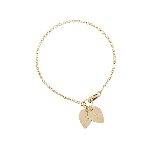 The Lily Double Lotus Petal Charm Bracelet Gold, Silver