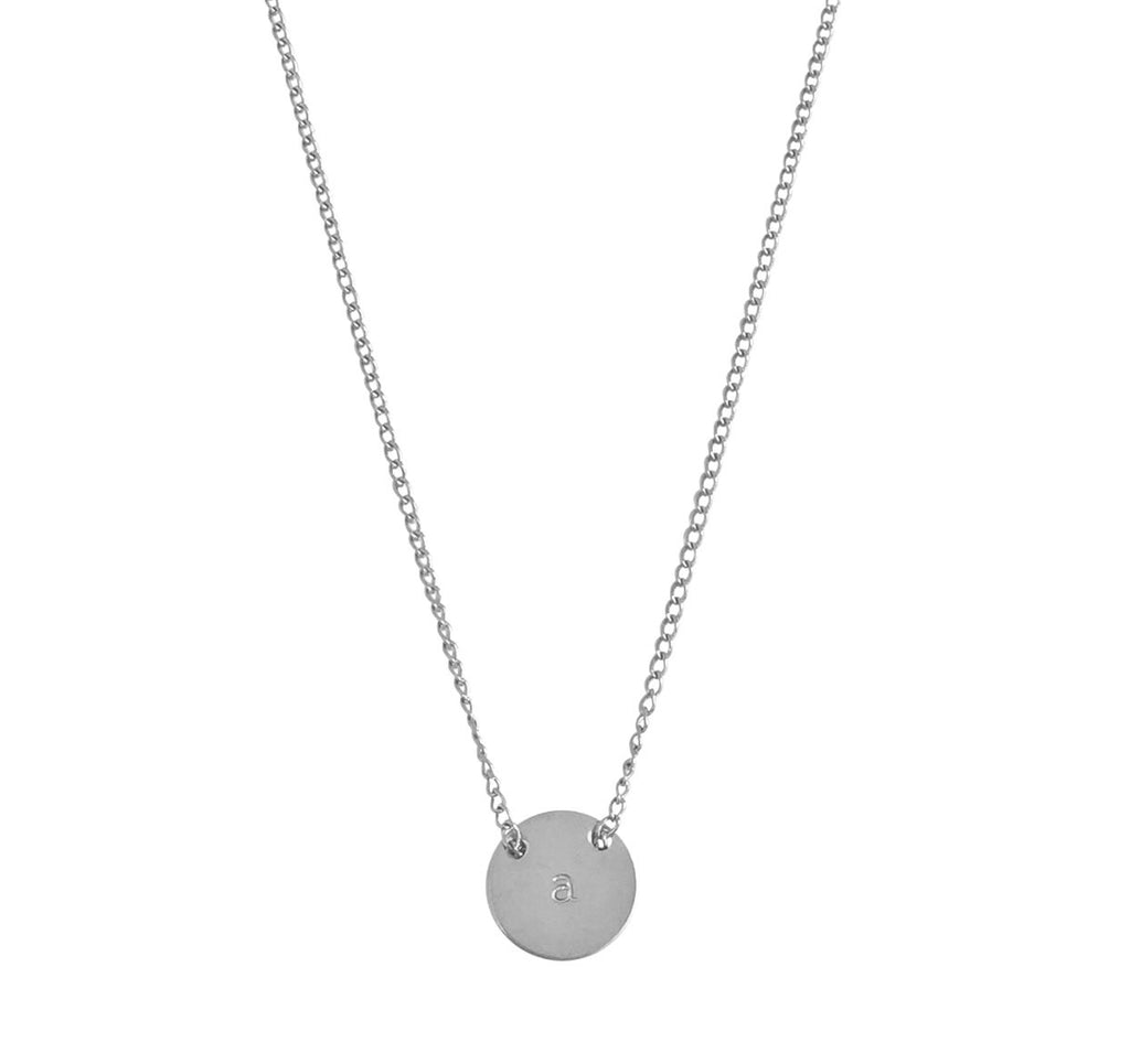The Livia Fine Chain Through Mini Disc Necklace 18""