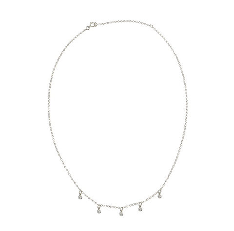 Lola Crystal Drop Necklace - Gold, Silver >>