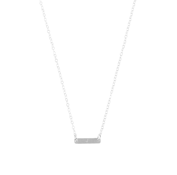 "The Maya - Mini Bar initial necklace 18/20"" - Gold, Silver, Rose Gold >>"