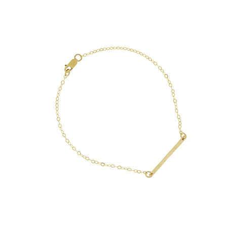 Ruby Mini Bar Bracelet in Golden Color