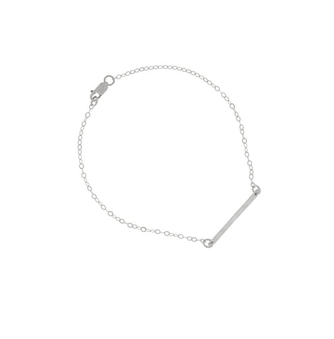 Ruby Mini Bar Bracelet in Silver Color