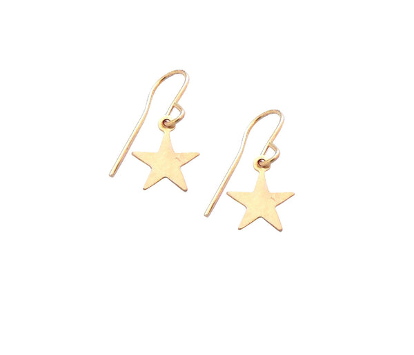 Mini Star Earrings in Gold or Silver Rose Gold Colors