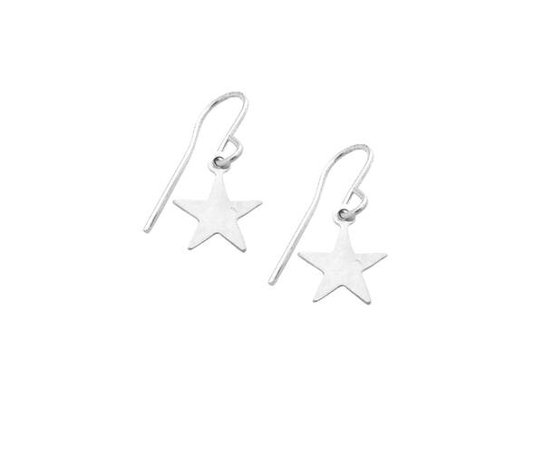 Mini Star Earrings in Silver Color