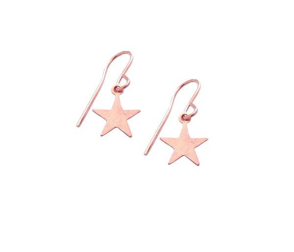 Mini Star Earrings in Rose Gold Color