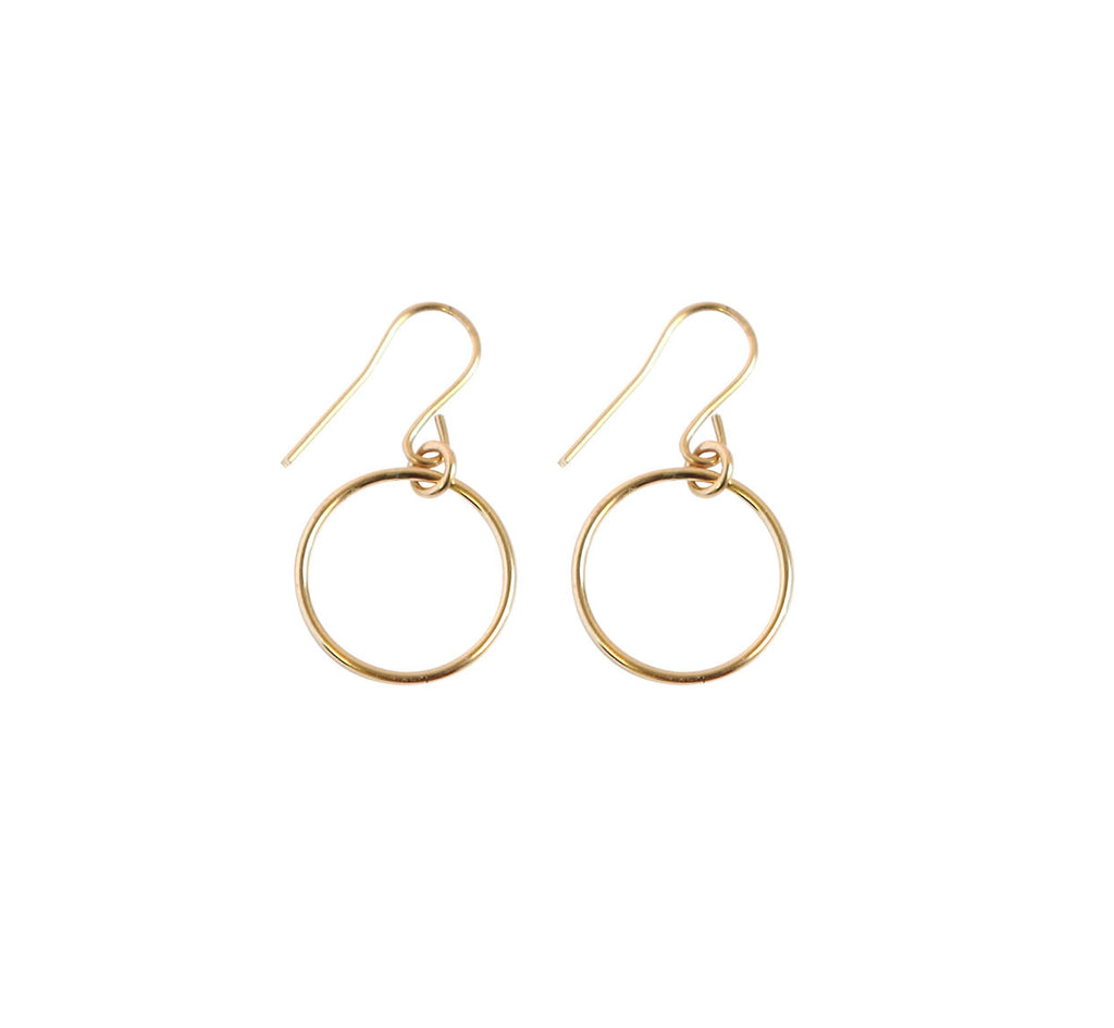 Mini Ring Earrings - Gold, Silver >>