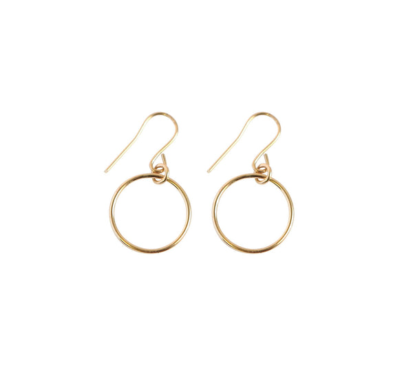 Mini Ring Earrings in Gold or Silver Colors