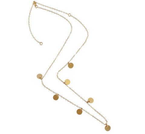The Pepper Short Multi Disc Necklace Gold, Silver
