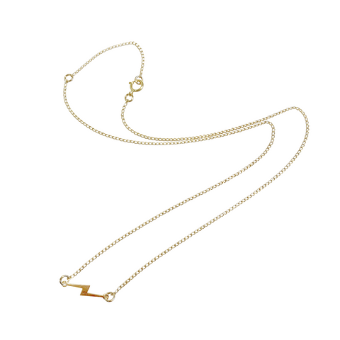 Pip Bolt Necklace - Gold, Silver >>