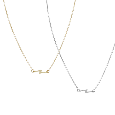 Pip Bolt Necklace in Gold & Silver Colors