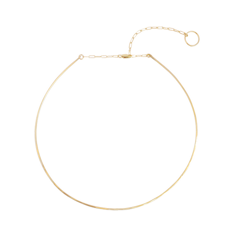 The Pure Wire Choker Necklace Gold, Silver