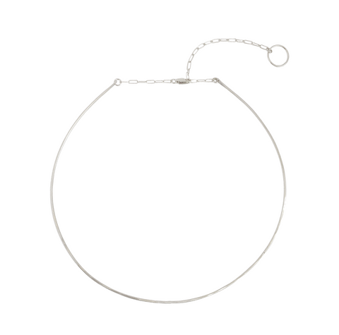 The Pure Wire Choker Necklace Silver