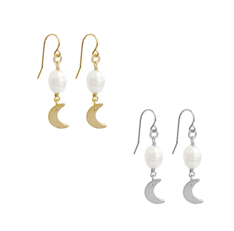 Fay Charm Earring - Gold, Silver >>