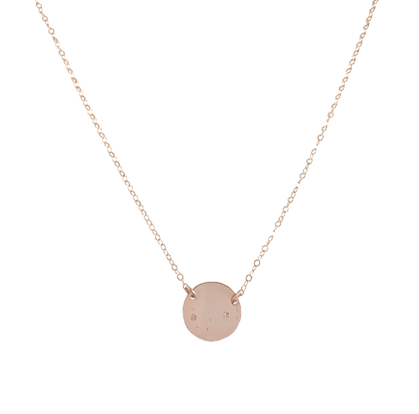 Zodiac Constellation Pendant - SCORPIO- Oct 24 - Nov 22 - Gold, Silver, Rose Gold >>