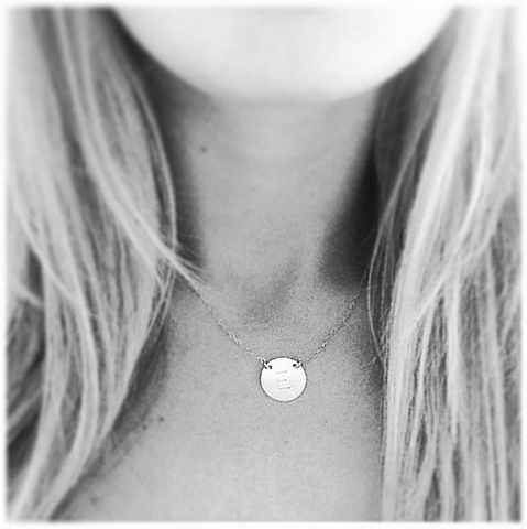 The Chloe Block Font - Large Initial Necklace-