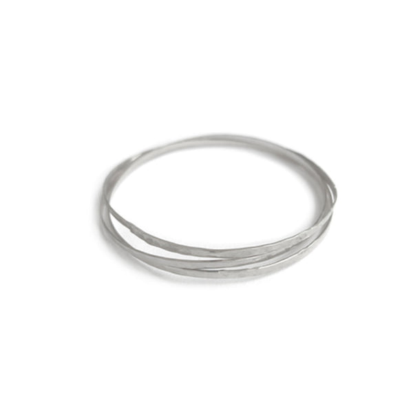 Organic Bangles Set of 3 - Gold, Silver >>