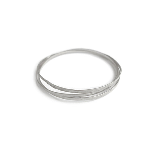 Organic Bangles Set Of 3 in Silver Color