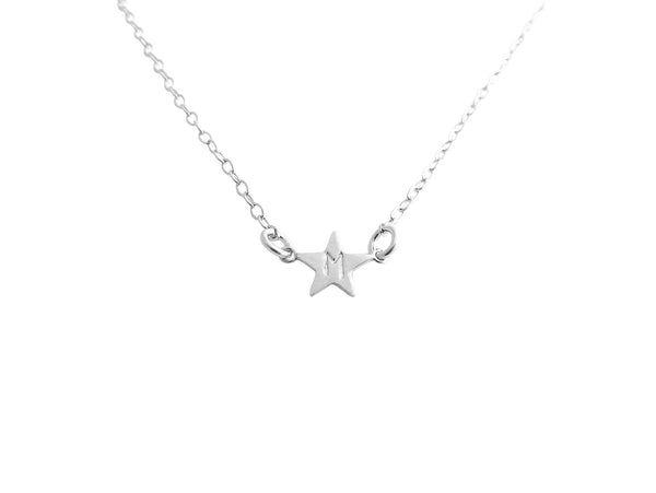 The Stella - Mini Star Initial Necklace - Gold, Silver, Rose Gold >>