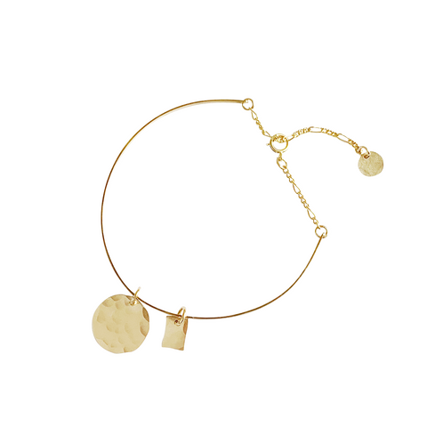Steph Cuff with Disc - Gold, Silver >>