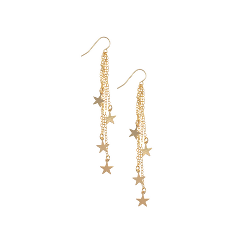Stevie Multi Star Earring in Gold Color