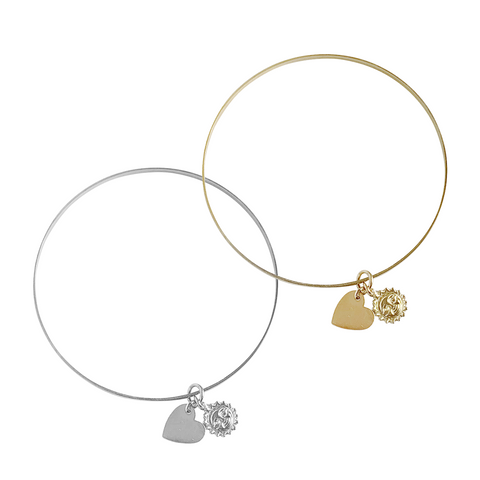 Love Sun Bangle in Gold and Silver Colors
