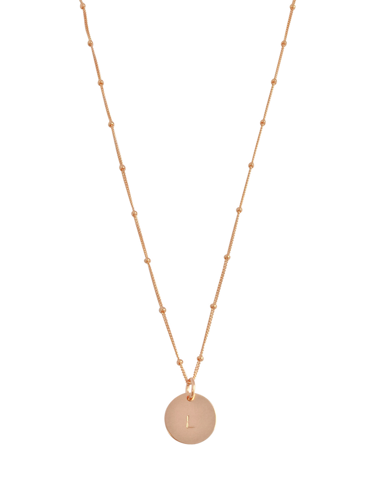 "The Aria - Classic disc necklace on bead chain 18"" - Gold, Silver, Rose Gold >>"