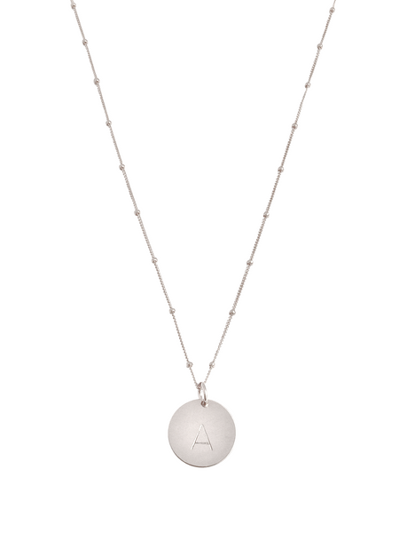 "The Aria Large - disc necklace on bead chain 18"" - Gold, Silver, Rose Gold >>"