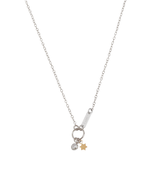 The Cleo - Crystal Necklace - Gold, Silver >>