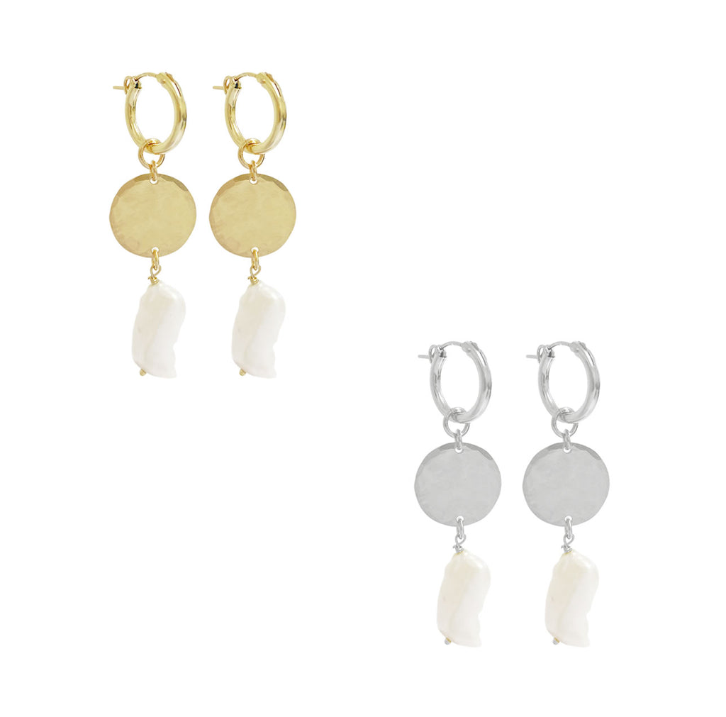 Venice Paris Earring - Gold, Silver >>