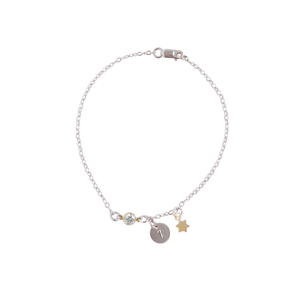 Crystal Tiny Disc and Star Bracelet-