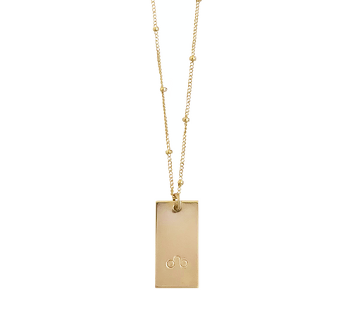 Zodiac Tag Necklace - LEO - Jul 24 - Aug 23 - Gold, Silver, Rose Gold