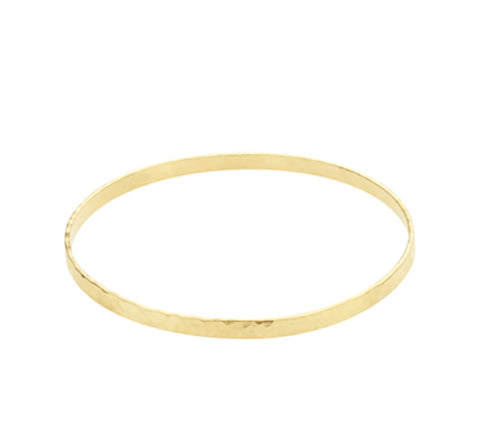 Thick Hammered Gold Filled Bangle