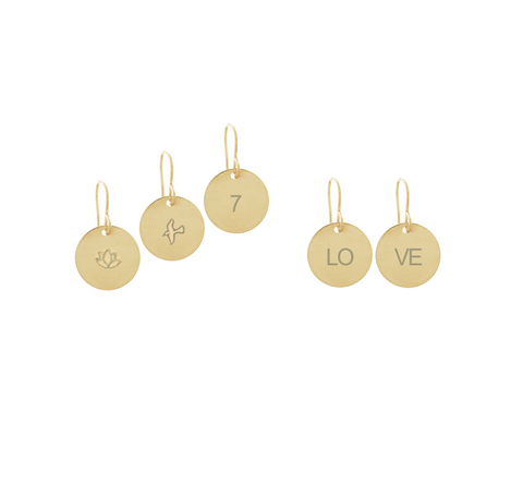 Classic Disc Earrings - Gold, Silver, Rose Gold >>>