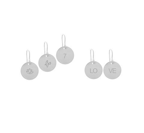 Classic Disc Earrings in Silver